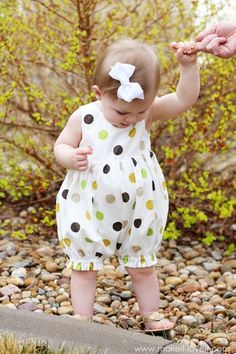 Turn a Baby Dress into a Bubble Romper -- Absolutely adorable! Will use this tutorial.