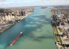 Aerial view of the Detroit Windsor. (File Photo/The Windsor Star) Miss the freighters Windsor Canada, Windsor Ontario, Detroit Usa, Detroit Michigan, Detroit Downtown, Detroit History, Mileena, State Of Michigan, Star Wars
