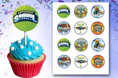 Skylanders Swap Force Skylanders Giants Birthday Cupcake Cup Cake Toppers Digital Personalized Printable DIY