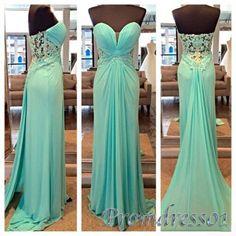 elegant chiffon long sweetheart dress