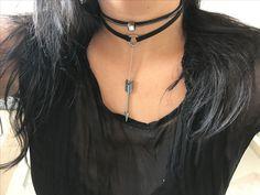 Choker couro ponto de luz e flecha  Adquira em nosso site Www.cariocadasgemasacessorios.iluria.com ------------------------- Acessórios,chokers,colares,gargantilhas,tendência ,inverno,Winter,bijoux,atacado