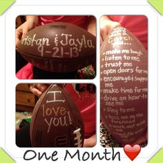 That is so cute! Only if it were a baseball and I would give it on our one year!