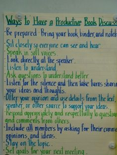 Ways to Have a Productive Book Discussion