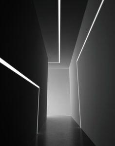 16 trendy ideas bedroom black and white decor interior doors Lighting Concepts, Linear Lighting, Lighting Design, Wall Lighting, Strip Lighting, Light Architecture, Interior Architecture, Black And White Dining Room, Black White