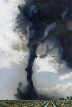 Alexis Rockman  Blue Tornado  2006  oil on gessoed paper  75 x 50.5 inches