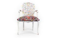 Artist Painted French Provincial Style Chair : EBTH