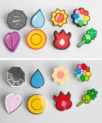 Pokemon Gym Badges cosplay from Pokemon