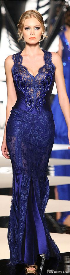 Mireille Dagher ~Fall/Winter she looks mad Elegant Dresses, Pretty Dresses, Blue Dresses, Prom Dresses, Formal Dresses, Beautiful Gowns, Beautiful Outfits, Gorgeous Dress, Mode Glamour