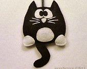 Cat Tuxedo feltro enfeite de natal - Licorice a Kitty Tuxedo