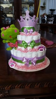 Princess and the frog diaper cake