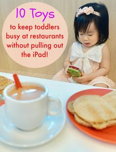 10 great toys that can help to keep toddlers busy at restaurants without resorting to pulling out the iPad! These toys are fun, portable, safe, engaging, non-disruptive, affordable and educational! Perhaps they may be good Christmas gifts for your little one(s) that help to make your life easier too! #toddlers #toddler #toddlertoys #parenting #fortoddlers #parentblogger #parentingblogger #parentingbloggers