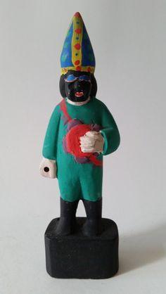 Racar. Figura de Reisado. 18,5 cm Arte Popular, Popular Art, Art Pop, Curiosity, Roots, Portugal, Culture, Brazil, Wood Sculpture