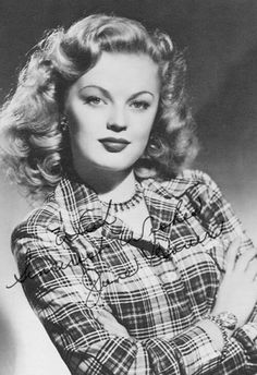 June Haver - (1926-2005) born June Stovenour. Child star of radio and teen band singer. Film actress appearing in a few musicals.