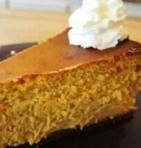 Gluten free pumpkin cheesecake with ginger snap crust