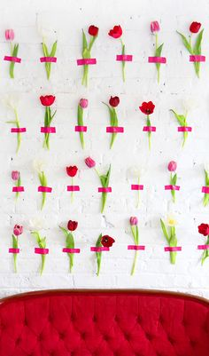 MY DIY | Floral Wall Backdrop The subtle colour variations of the flowers and their placement make this installation pop!!