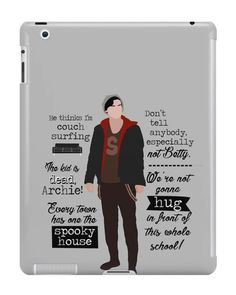 Our Jughead Quotes Riverdale iPad Case is available online now for just £9.99.    Fan of Riverdale? You'll love our Jughead Quotes Riverdale iPad case, available for iPad, iPad Mini & iPad Air.    Material: Plastic, Production Method: Printed, Authenticity: Unofficial, Weight: 28g, Thickness: 12mm, Colour Sides: Clear, Compatible With: iPad 2 | iPad 3 | iPad 4 | iPad Air | iPad Mini | iPad Mini 2, Features: Slim fitting one-piece clip-on case that allows full access to all device ports. This