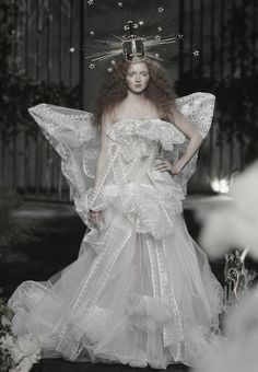 Lily Cole at Christian Dior Haute Couture Autumn/Winter 2005 #runway