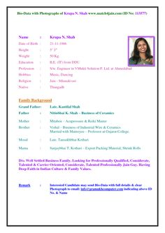cv format doc for marriage biodata format scribd check the below link for more formats httpaletterformat - Matrimonial Resume Format