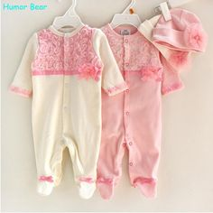 0ae83eeddcd7 Price tracker and history of Princess Style Newborn Baby Girl Clothes Kids  Birthday Dress Girls Lace Rompers+Hats Baby Clothing Sets Infant Jumpsuit  Gifts