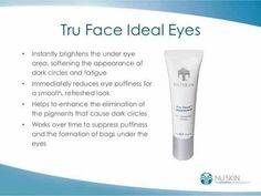 Nu Skin, Puffy Eyes, Dark Circles, Beauty Skin, Serum, How To Make Money, Knowledge, Skin Products, Beauty Products