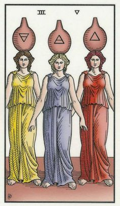 Three of Vessels | The Alchemical Tarot without looking - tell me which element is not on a vessel - clue to what the cups must develop