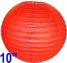 """Red Chinese/Japanese Paper Lantern/Lamp 10"""" Diameter - Just Artifacts Brand by Just Artifacts. $0.96. Great for party and home decoration. Check Just Artifacts products for more available colors/sizes."""
