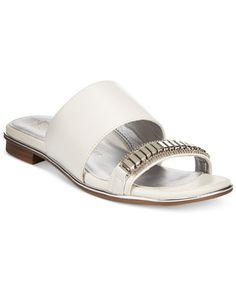 ada21f719002 Anne Klein Napper Slide Flat Sandals Flip Flop Sandals