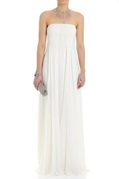 All Eveningwear - SILK STRAPLESS LONG DRESS - Lisa Ho