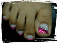 Cute Toenail Designs, Toe Nail Designs, Pretty Toe Nails, Pretty Toes, Cute Pedicures, Almond Shape Nails, Toe Nail Art, Everything Pink, Diana