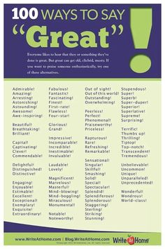 """Ways to say """"Great"""""""