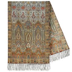 Royal Wool Russian Shawl / Tippet Scarf with Silk Fringe cm) Gray/brown Paisley, Pride And Glory, Wholesale Scarves, Scarf Styles, Womens Scarves, Brown And Grey, Shawl, Women Accessories, Style Inspiration