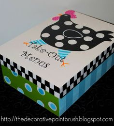 Painted Menu Box by TheDecorativeBrush on Etsy,