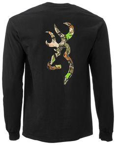 Bass Pro Shops® Browning® Camo Buckmark T-Shirt for Men - Long Sleeve | Bass Pro Shops