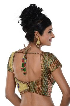 Designer Indian Sari Blouse Saree top Choli with by SarisAndThings, $99.00