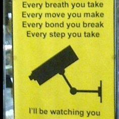 Security Camera. I've seen a sign like this before!