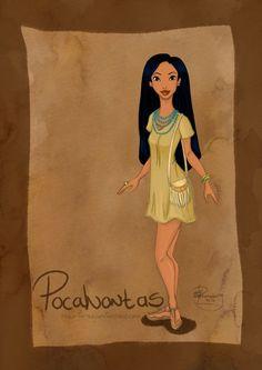 DisneyBound: Pocahontas by Tella-in-SA.deviantart.com on @deviantART
