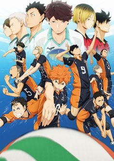 "4th Key Visual for ""Haikyu!!"" TV Anime Features Karasuno Members and Their Rivals"