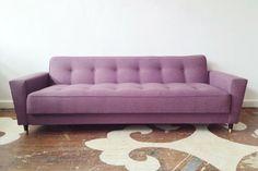 Midcentury Sofa, Maxwell Fabric's Gig Harbor Tulip Fabric - modern - sofas - other metro - Chairloom