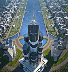 Forget about the Kingdom Tower. There will be a building higher than that: the Azerbaijan Tower. It will be fifty meters higher than the Kingdom Tower, have 189 floors and look like a shiny glass, steel and concrete monolith of crap. Interesting Buildings, Amazing Buildings, Modern Buildings, Future Buildings, Futuristic Architecture, Beautiful Architecture, Architecture Design, Classical Architecture, Chinese Architecture