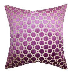 Cotton pillow with a geometric motif. Made in Boston, Massachusetts.   Product: PillowConstruction Material: Cotton ...
