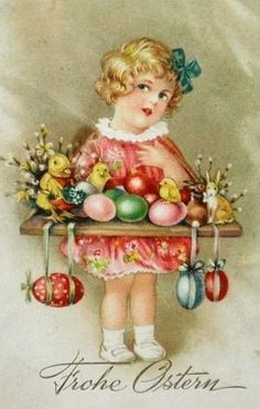 1900's Easter card
