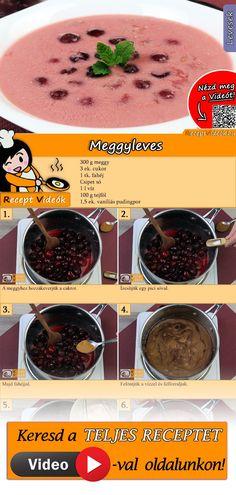 A melegben egy jó hideg meggylevesnél nem is kívánhat jobbat az ember! A Meggyleves recept videóját a kártyán levő QR kód segítségével bármikor megtalálod! :) #Meggyleves #ReceptVideók #Recept #Leves #LevesRecept