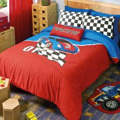 Race Car Comforter Set