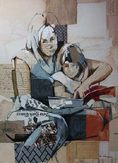 carme magem artista - Spanish contemporary artist mixing collages and oil