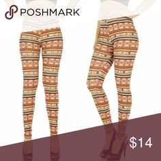 Multi Pattern Cotton Blend Leggings Plus size Butter soft and silky, beautiful multi print in pink yellow Grey black and coral.  Beautiful to wear now and thru spring and summer.  Change the look with a different color top. Pants Leggings