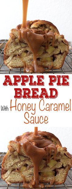 This Apple Pie Bread with cinnamon is a delicious and quick fall recipe. It has layers of rich apple pie filling wrapped in warm, cinnamon-flavored bread. The sweet dessert bread is a cross between a babka and a classic homemade apple pie and is perfect served with a scoop of ice cream or honey caramel sauce! If you like apple pie, you'll love this!