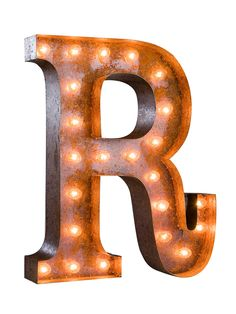 R by Vintage Marquee Lights at Gilt