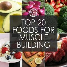 "Known the world over as ""The Muscle Chef"", Filippone has put together this list of 20 foods and ingredients that he recommends for those interested in building muscle and staying toned."