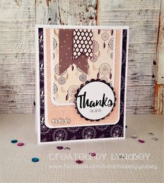 Simply Creative Sweet Dreams Thanks card by DT member Lyndsey
