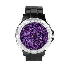 purple zebra watches